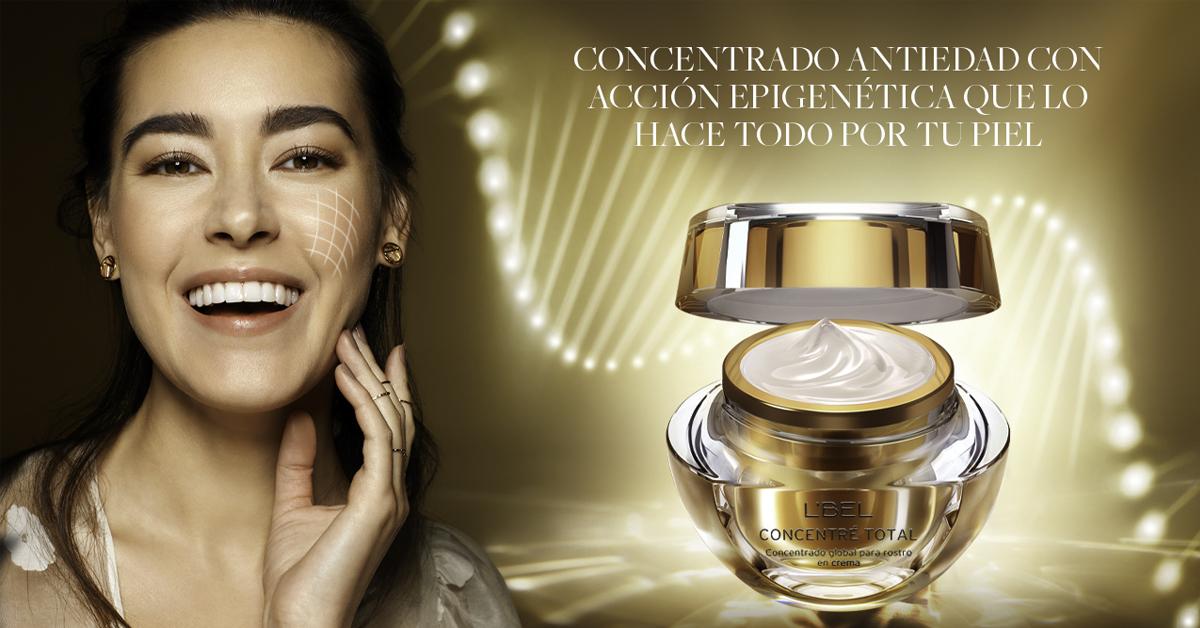 concentre total crema facial concentrado de maitake imperial con modelo y tecnologia