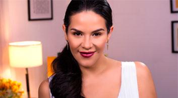 Maquillaje clásico y bronce para Año Nuevo
